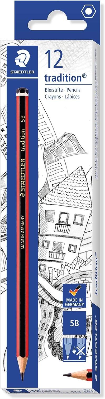 Blister Card of 3 Staedtler 110-HBBK3D Tradition HB Pencils