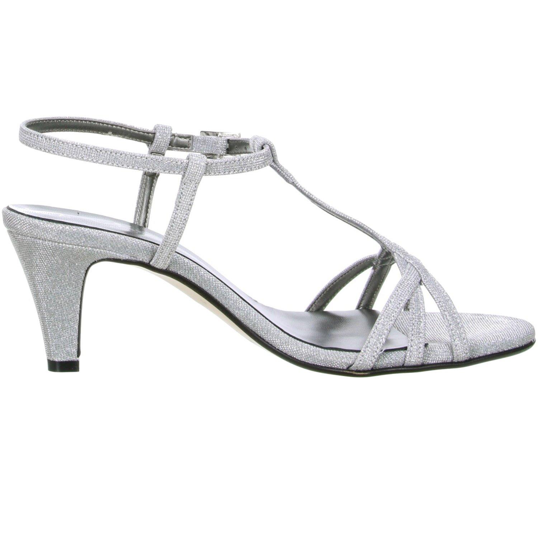 Vista Damen Glitzer Sandaletten silber silber silber Silber eb54b7