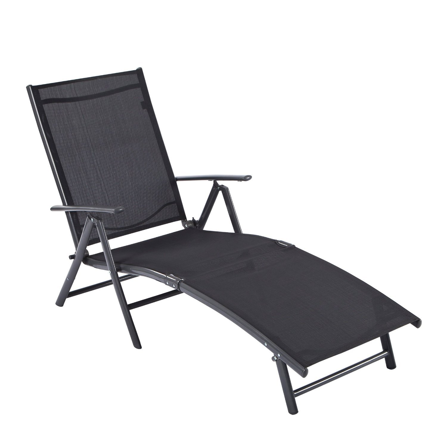 Ultranatura Chaise longue en aluminium, gamme Korfu - Basic,Anthracite 20010000111A