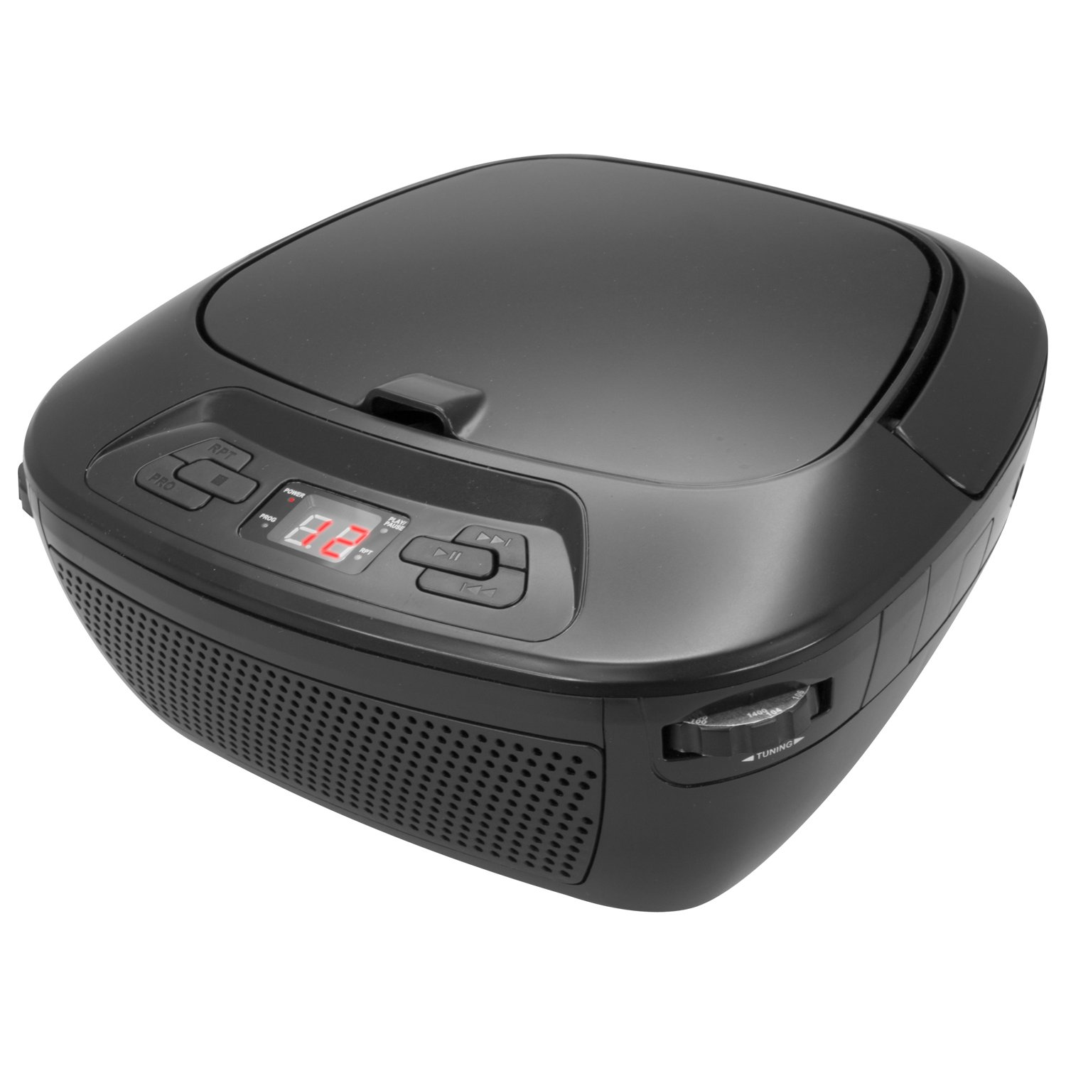 GPX Portable Bluetooth Boombox/CD Player, Requires 6 C Batteries - Not Included, Black - GPXBCB117B Inc.