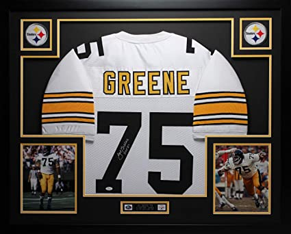 b11c41b2d Joe Greene Autographed White Steelers Jersey - Beautifully Matted and Framed  - Hand Signed By Joe