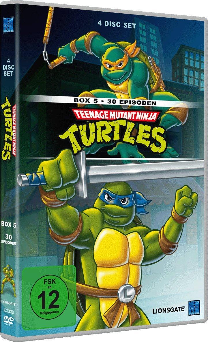 Teenage Mutant Ninja Turtles - Box 5 4 DVDs Alemania: Amazon ...