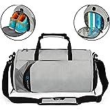Lumbor37 Fitness Sport Bolso Pequeño para Gimnasio con Compartimento para Zapatos y Bolsa Impermeable para Viaje para Mujeres y Hombres Gray