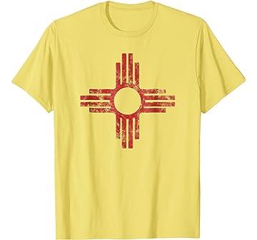 Amazon Mens New Mexico Zia Sun Symbol T Shirt 2xl Black Clothing