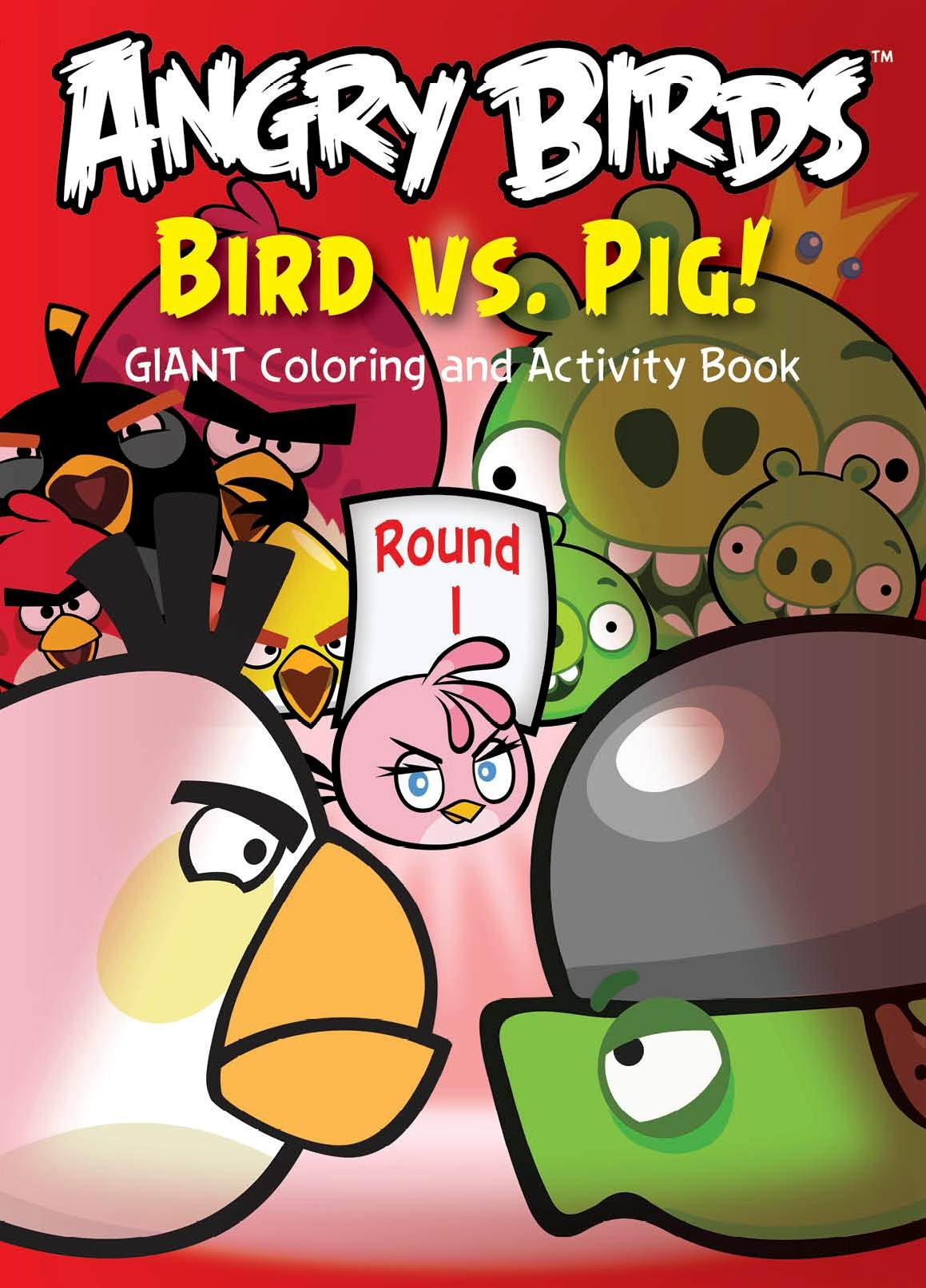Angry Birds Giant Coloring and Activity 1 assorted coloring Book 96 ...