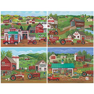 4 in 1 Farm All Puzzle Set - Each 500 Piece Jigsaw Puzzle is 18 X 14 Inches: Toys & Games