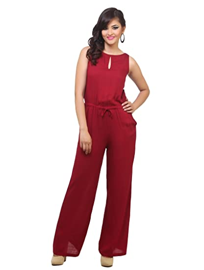 c94c01a0a309 cottinfab Women s Cotton Jumpsuit (2341B S-P)  Amazon.in  Clothing ...