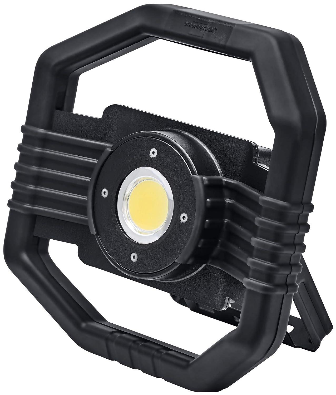Brennenstuhl Mobiler Hybrid LED Strahler DARGO / Hybrid Baustrahler (Arbeitsstrahler 50W mit Li-Ion Akku und abnehmbarem Kabel, IP65, Powerbank-Funktion) schwarz 1171680