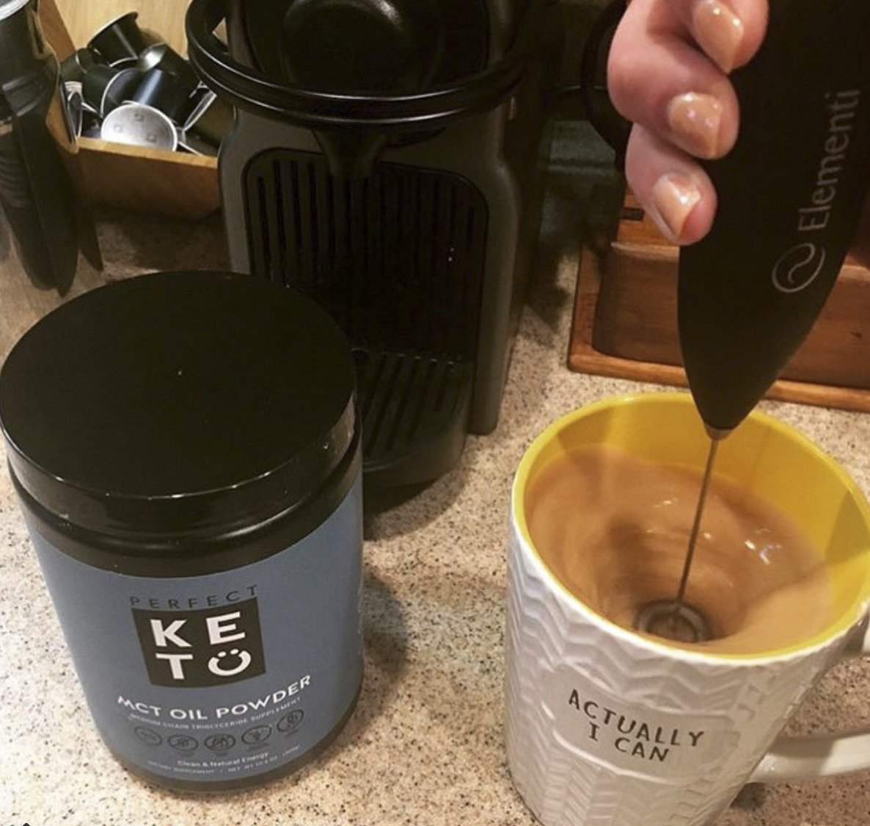 Perfect Keto MCT Oil Powder: Vanilla Ketosis Supplement (Medium Chain Triglycerides - Coconuts) for Ketone Energy - Paleo Natural Non Dairy Ketogenic Keto Coffee Creamer by Perfect Keto (Image #8)