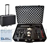 Extra Large Hard Camcorder Equipment Case For JVC GC-PX100, GY-HM650, GY-HM750, GY-HM600, GY-HM170, GY-LS300, GY-HM200, GY-HM150U, GY-HM170U, GY-HM100U, GY-HM100U, GY-HM600, GY-HM650, GY-HM70U, GY-HM700U, GY-HM750, GY-HM790, GY-HMQ10 4K, GY-HMZ1U & More… + Microfiber Cloth