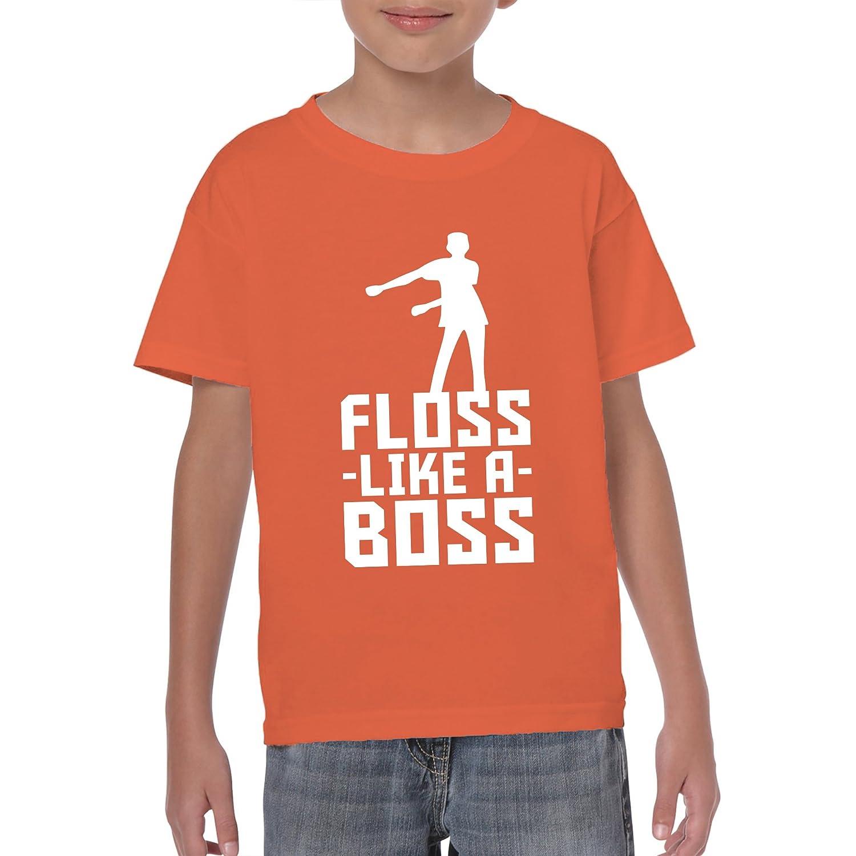 Flossin Dance Funny Emote Youth T Shirt Kids Floss Like A Boss