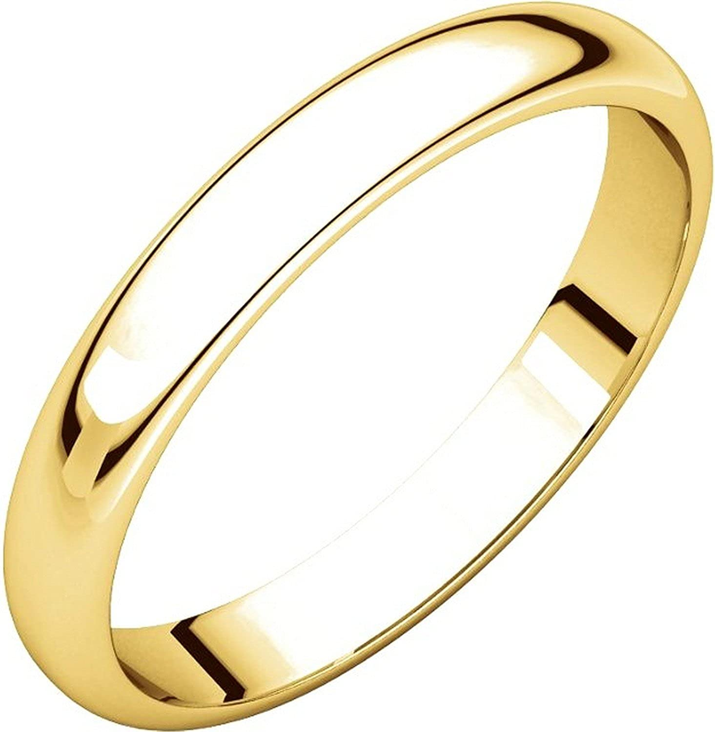 Men's and Women's 14k Yellow Gold, 4mm Wide, Plain Wedding Band
