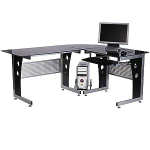 Perfekt Computertisch Mit Schwarzen Sicherheitsglas