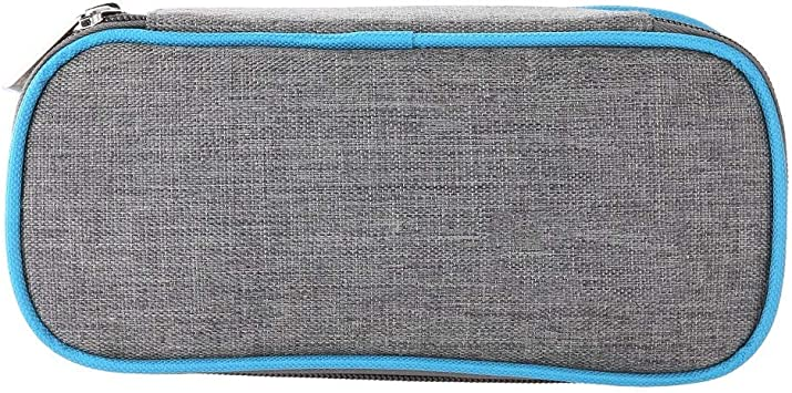 Estuche de insulina - Funda protectora de bolsa de bolsa protectora de insulina portátil con aislamiento médico Caja de bolsillo de enfriamiento (azul): Amazon.es: Belleza