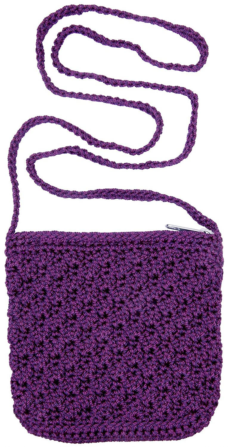 Amazon.com: Girls Crochet Bag With Strap Purple: Apparel Accessories: Clothing