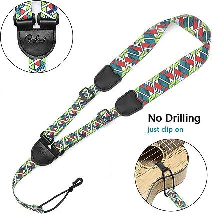 Amazon Com Bestsounds Ukulele Strap No Drilling Printed Clip On