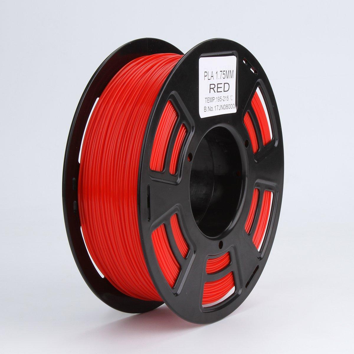 melca 1,75 3d impresora filamento pla 1 kg +/-0,03 mm, rojo ...