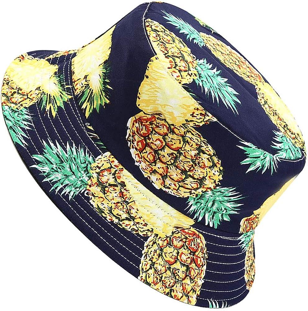 MaxNova Bucket Hat Summer Travel Beach Sun Hat Reversible Vistor Outdoor Cap Unisex 100% Cotton