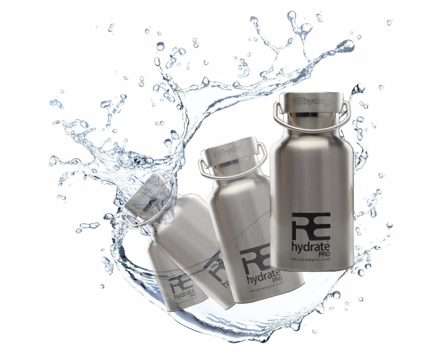 Rehydrate Pro Junior niños y respetuoso con el medio ambiente de acero inoxidable con aislamiento para bebidas calientes o frías y viajes.