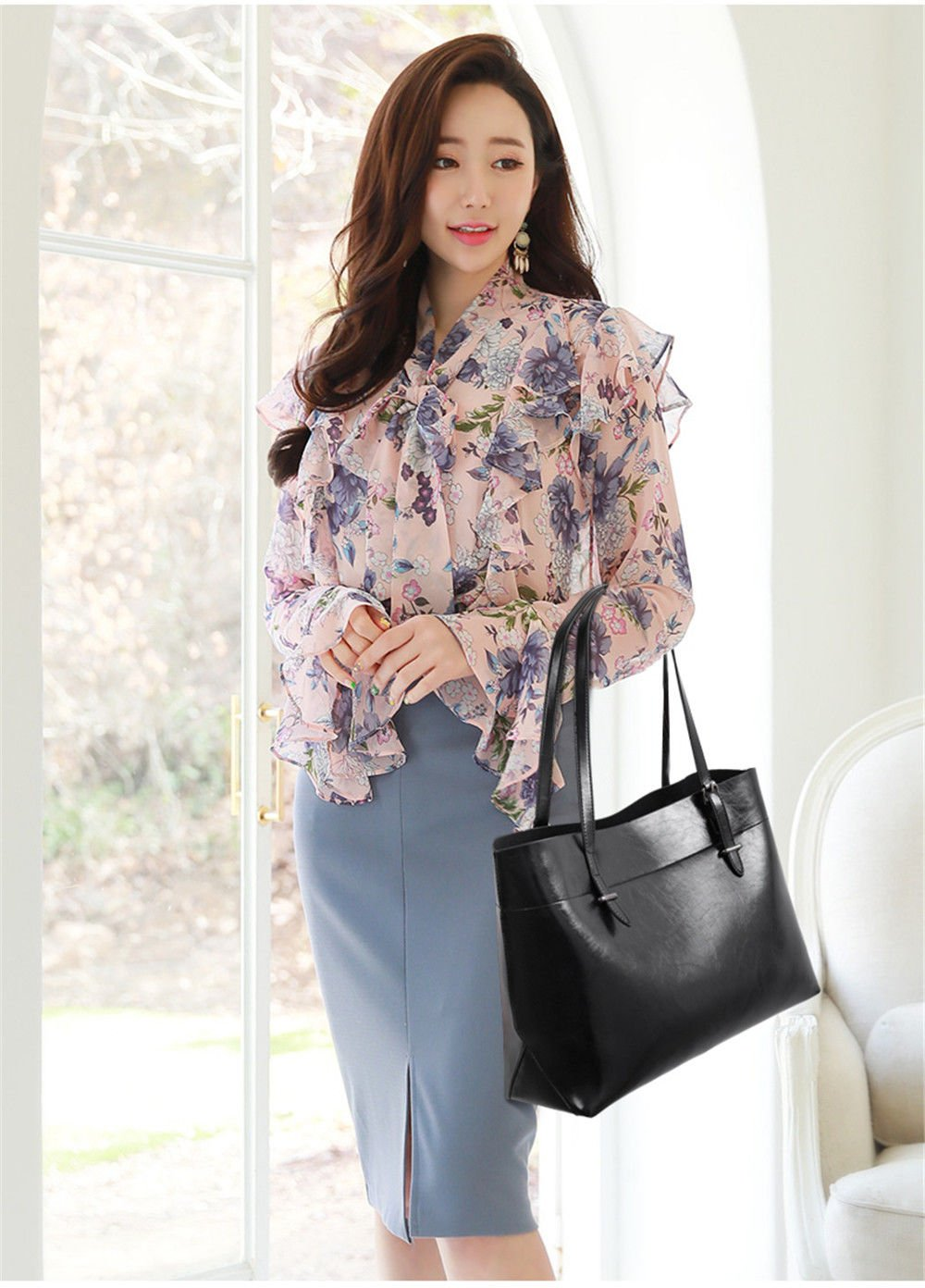 Mother Bag Fashion Back To Ancient Large Capacity Single Shoulder Bag,Black,Three Piece Set by SJMMBB (Image #1)