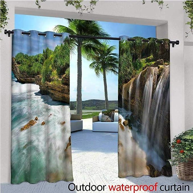 warmfamily Nature - Cortina de privacidad para Exteriores para Paisaje de pérgola, Lago, Paisaje, casita, aislada térmicamente, Repelente al Agua para balcón: Amazon.es: Jardín