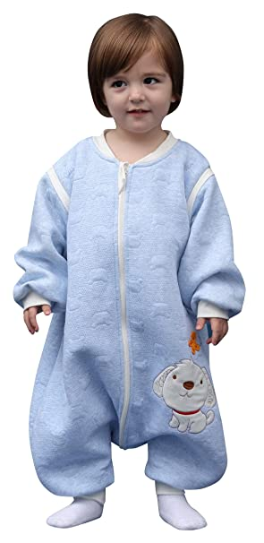 Happy Cherry Baby Bauwolle Schlafsack Kleinkind Schlafstrampler Separate Beine Strampelsack mit Abnehmbare /Ärmel