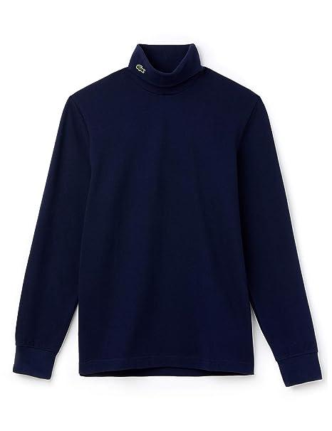 Lacoste - Camiseta de Manga Larga - para Hombre Azul 166 Marine ...