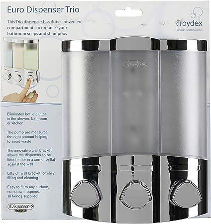 Croydex Euro Distributeur de savon trio Chrome PA661041
