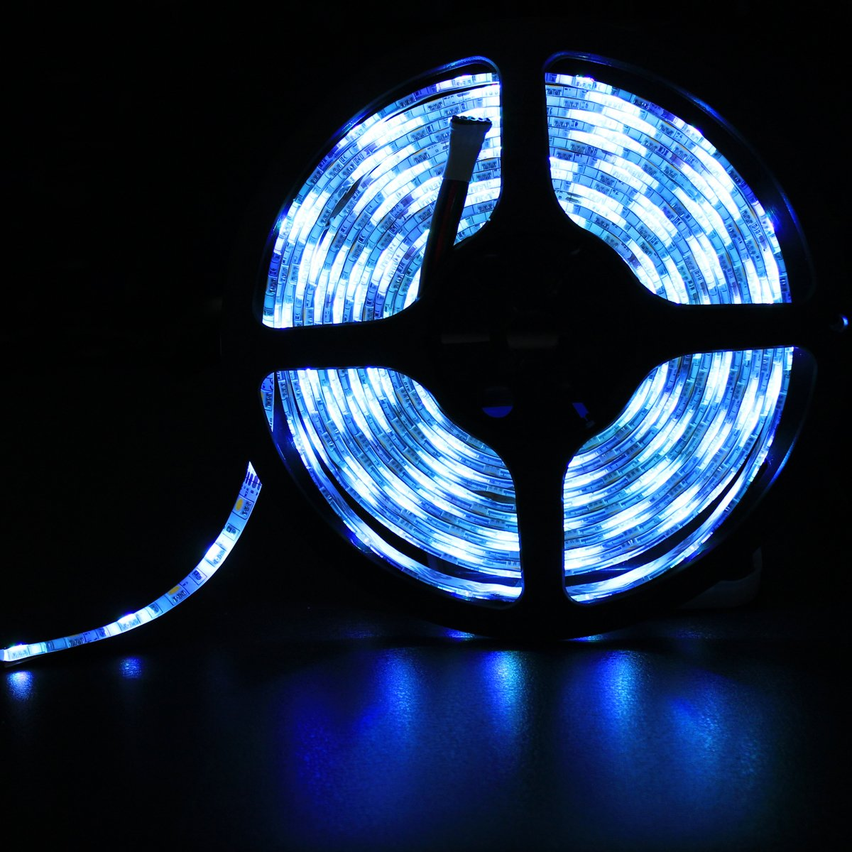 Cinta de luz LED RGBW 16.4ft los 5M RGB impermeable flexible blanco 300leds que cambia de color luz de tira RGBWWP