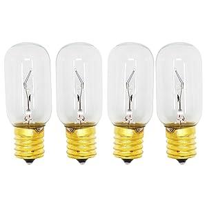 4 Replacement Light Bulbs for LG LMV2031ST, LG LMV1683ST, LG LMHM2237ST, LG LMV2031BD, LG LMV1813ST, LG LMH2235ST, LG LMV1831ST, LG LMV1680ST, LG LMHM2017ST, LG LMV2031SW, LG LMH2016ST