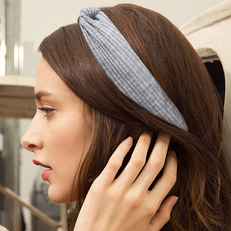 HBselect Cintas Pelo Mujer Chicas 10 Pcs Tejido De Punto Suave Turbante Mujer Multicolor Accesorios Pelo