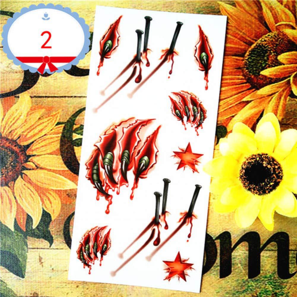 SDEFGH Etiqueta engomada del tatuaje 3 Piezas Mariquita niño 3D ...
