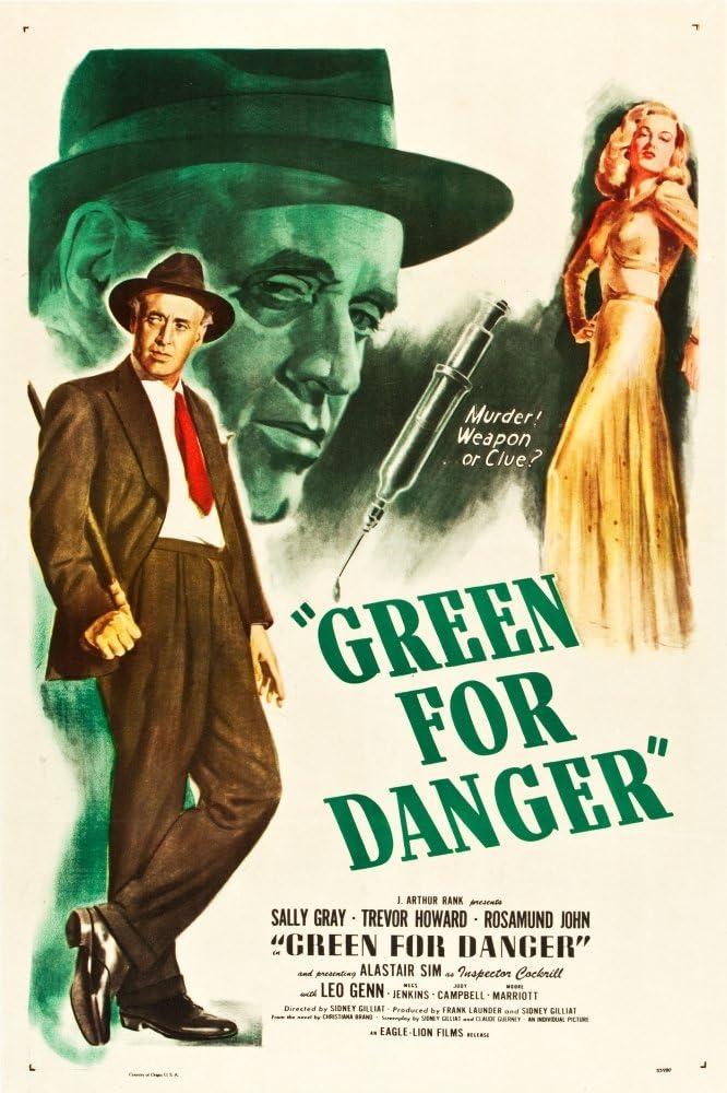 Amazon.com: Posterazzi Green For Danger L-R: Alastair Sim Sally Gray On Us  Art 1946. Movie Masterprint Poster Print, (24 x 36): Posters & Prints