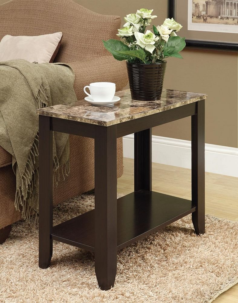 marble top end tables Amazon.com: Monarch Specialties I 3114, Accent Side Table, Marble  marble top end tables