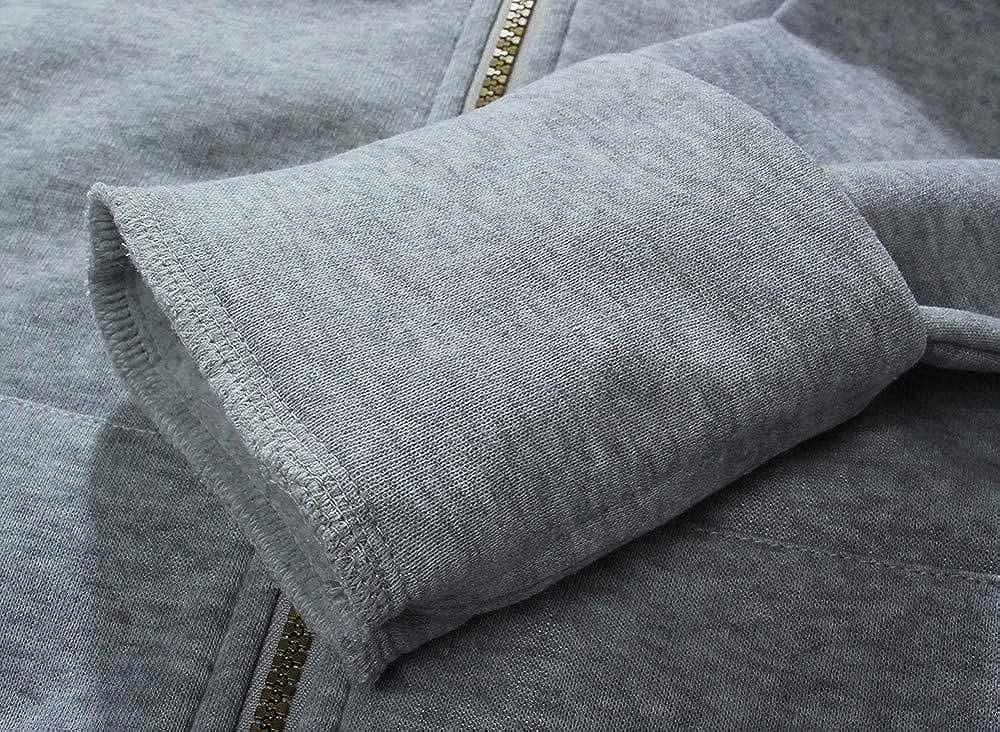 JESPER Women Plus Velvet Thickened Leopard Print Fleece Lining Hooded Sweater Zipper Coat