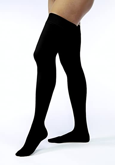 f28ccd06fb JOBST Opaque Thigh High with Silicone Dot Top Band, 15-20 mmHg Compression  Stockings