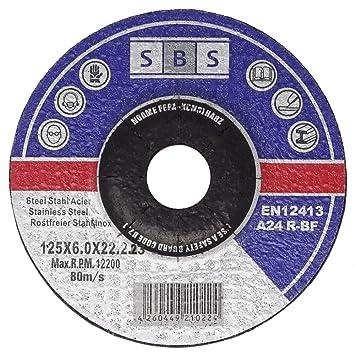 Sbs Schruppscheiben Metall Inox O125 X 6 Mm Fur Winkelschleifer 5
