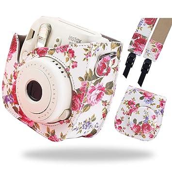 Katia Estuche para cámara instantánea Fujifilm Instax Mini 9 - Flamingo Pink , también para Fujifilm INSTAX Mini 8 Instant Camera, con estuche para ...