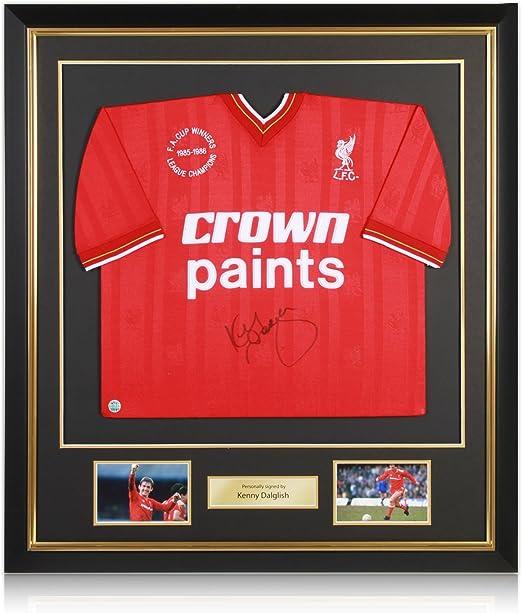 Kenny Dalglish Firmado camiseta de fútbol Liverpool Deluxe ...