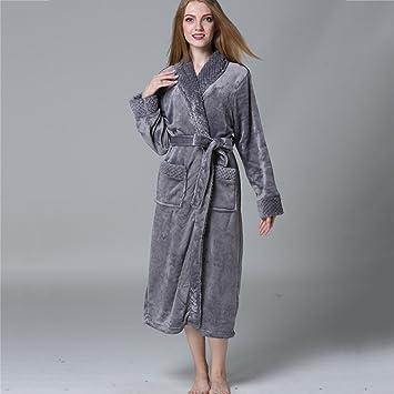 Pijama Correa para albornoz para hombre y mujer y dos bolsillos delanteros camisón cálido y acogedor ...