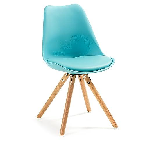 Scandinavian Interior Sala Stuhl Mit Sitzkissen   Lounge Esszimmer Küche    Retro Design   Holz Stil