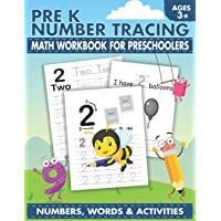 Pre K Number Tracing Math Workbook For Preschoolers: Simple math for toddlers |...