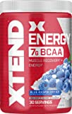 Scivation Xtend Energy BCAA Powder with Caffeine, Blue Raspberry, 30 Servings