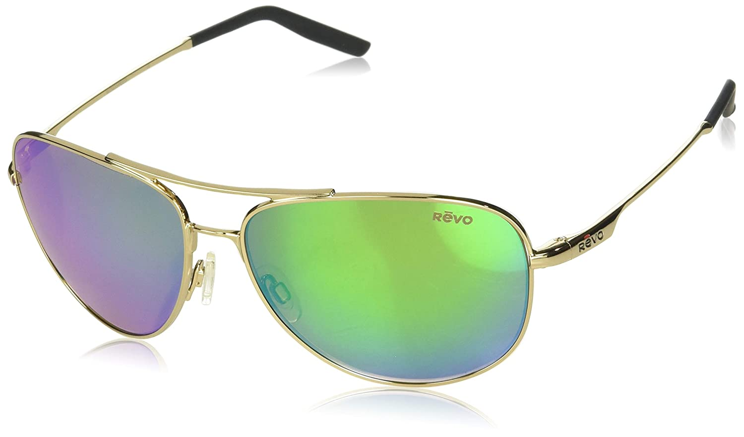 Revo Unisex-Adult Re 3087 Windspeed Polarized Sport Sunglasses RE 3087 400 GN Polarized Aviator Sunglasses, Polished Gold, 61 mm