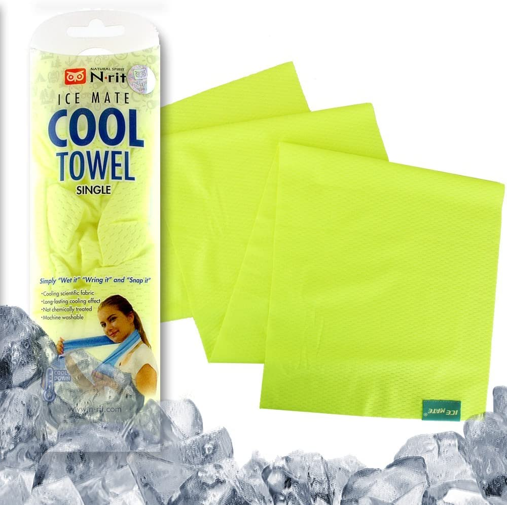 """N-rit Ice Mate Cooling Towel [Yellow] 36"""" x 10"""""""