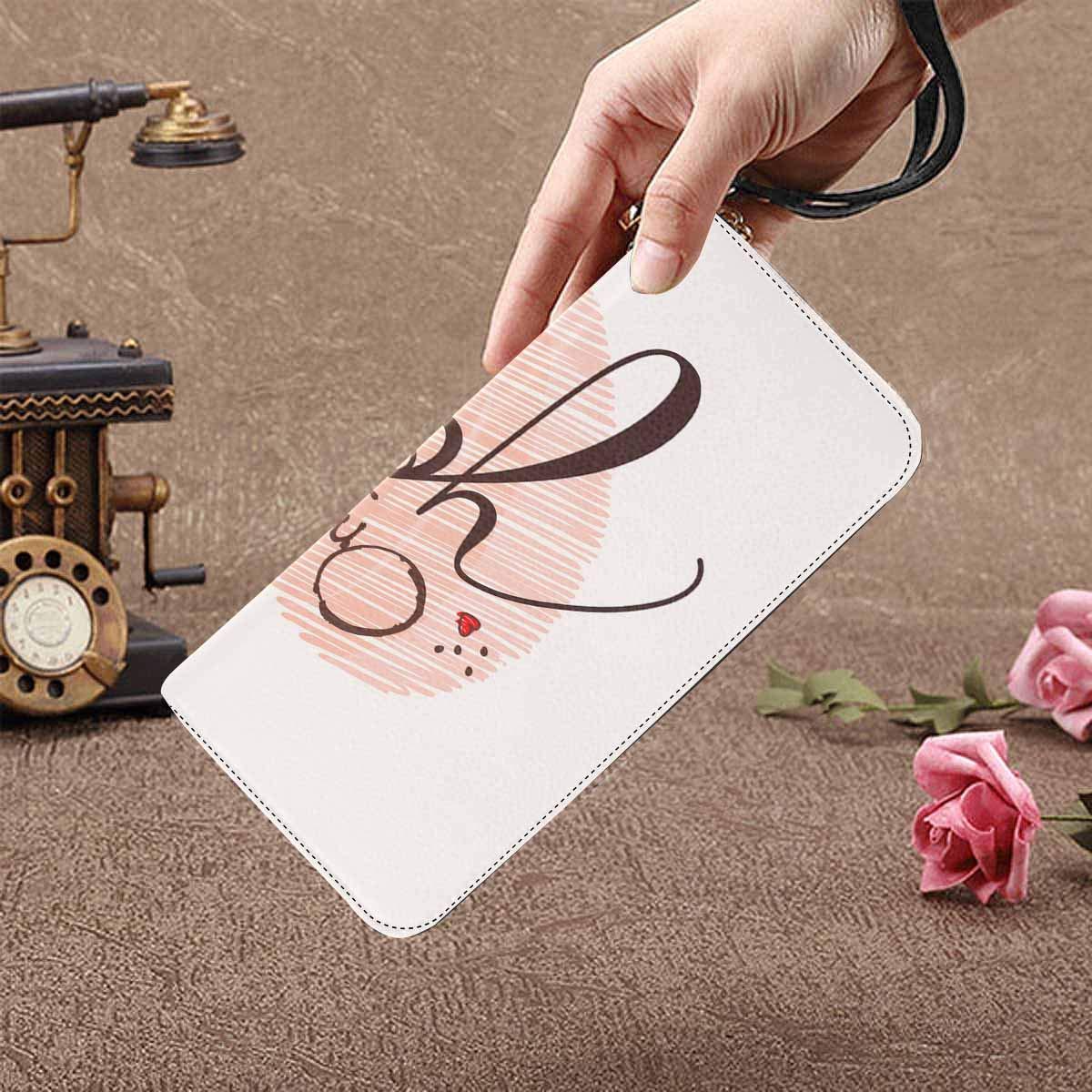 InterestPrint Womens Valentine Greeting Clutch Purse Card Holder Organizer Ladies Purse