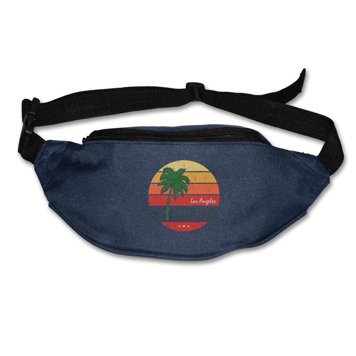 Los Angeles California Sport Waist Packs Fanny Pack Adjustable For Travel