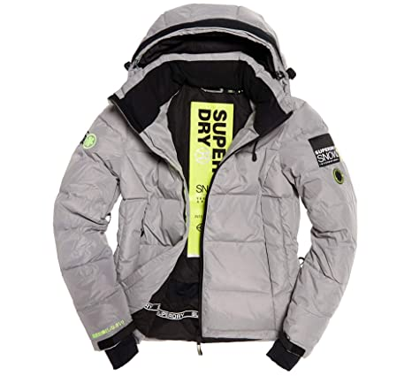 Superdry Snow Shadow Down, Giacca Uomo, Carbonised Grey, S