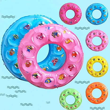 Natación anillo niños flotador piscina inflable protección con lindo dibujos animados pequeño animal bebé nadar anillo