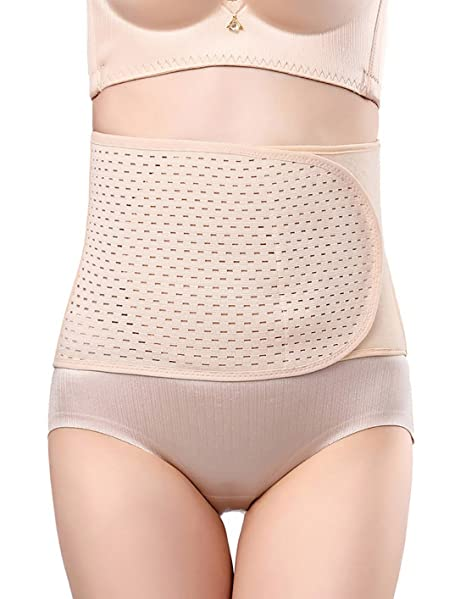 2b1c4bb951 Amazon.com  Women Hourglass Shaper Waist Cincher Under Bust Shape Wear Training  Corset Breathable Postnatal Recovery Hollow-Out Belly Control  Clothing